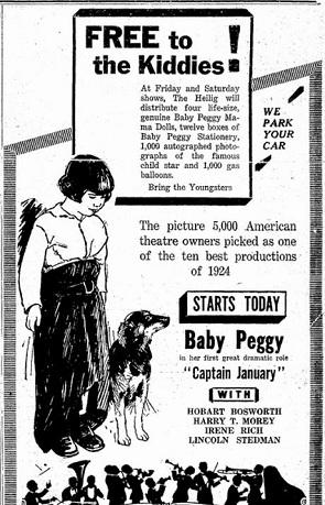 film review Captain January 1924