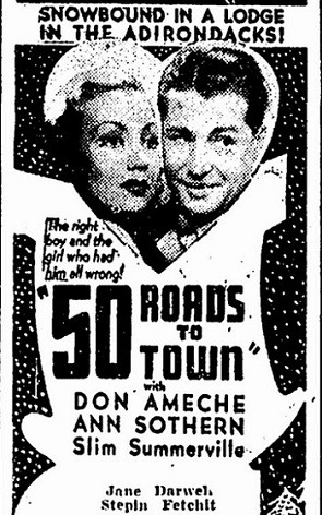 40 Roads to Town film starring Don Ameche