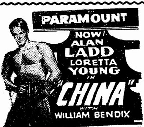 China film starring Alan Ladd and Loretta Young
