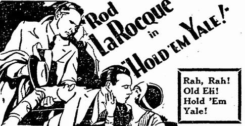 Hold 'Em Yale film starring Rod La Rocque