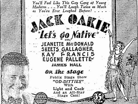 Let's Go Native film starring Jack Oakie