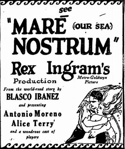 Mare Nostrum film starring Alice Terry