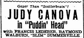 Puddin' Head film starring Judy Canova
