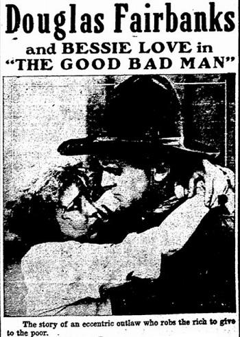 The Good Bad Man film starring Douglas Fairbanks