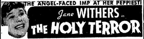 The Holy Terror film starring Jane Withers
