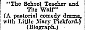 The School Teacher and the Waif film starring Mary Pickford