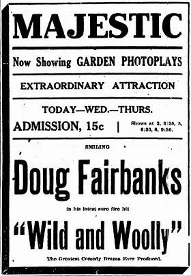 Wild and Woolly film 1917 starring Douglas Fairbanks