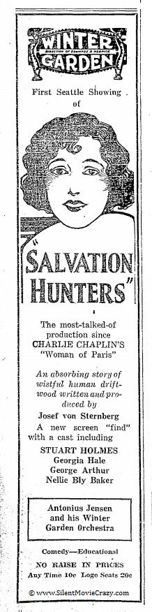 The Salvation Hunters directed by Josef von Sternberg