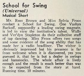 School for Swing