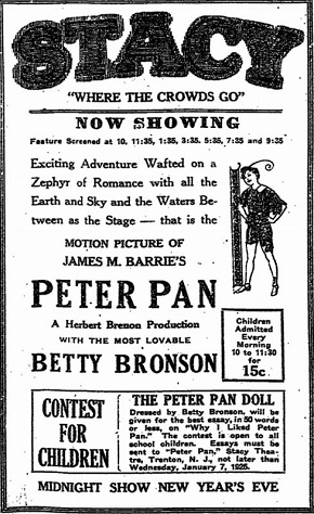 film review silent era Peter Pan