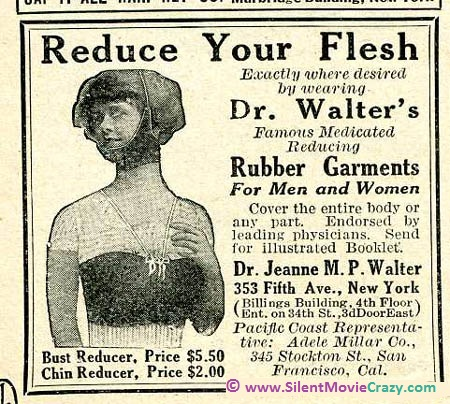 vintage ad for rubber reducing garments