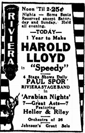 film review Speedy starring Harold Lloyd