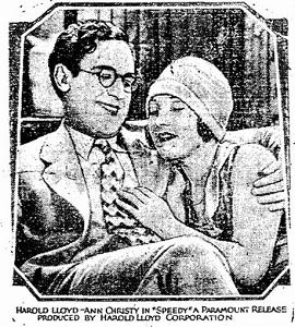 Harold Lloyd and Ann Christy