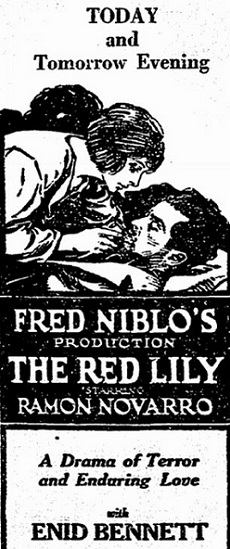 film review The Red Lily starring Ramon Novarro