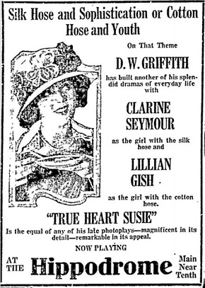 film review True Heart Susie starring Lillian Gish