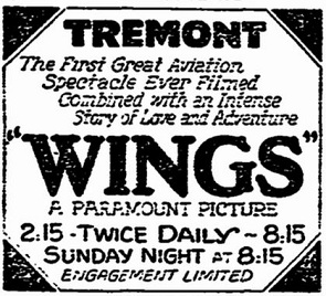 film review Wings directed by William A. Wellman